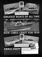 1939 Chris-Craft Boats Cruiser Runabout Clipper vintage photo print ad ads78