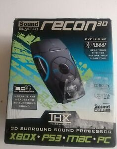 New Creative Sound Blaster Recon3D THX USB External Sound Enhancer MAC PS3 XBOX