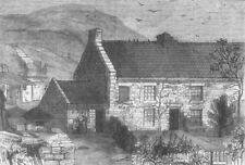 NORTHUMBS. Willington Quay. Stephenson, antique print, 1858
