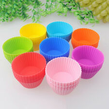 6X Round Soft Silicone Cake Muffin Chocolate Cupcake Liner BakingCup Mold Colors