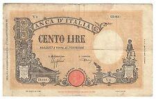 100 lire grande B fascio 09 12 1942 naturale MB  lotto 1637