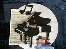 Fatto a mano decorazioni per carta-DEOCUPAGE pianoforte e libri montato su un CD P & P sconto