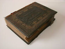 Antique Holy Bible with Commentaries of Henry and Scott - Illustrated - 1872