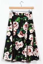 Pleated Knee-Length Floral Skirts for Women