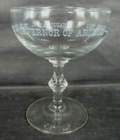 1963 ARIZONA GOVERNOR INAUGURAL PAUL FANNIN souvenir champagne glass US SENATOR