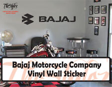 Bajaj Motorcycle Company Vinyl Wall Sticker