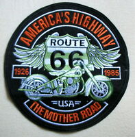 Aufnäher Patch American Highway ROUTE 66 USA Eagle Wings Motorrad Biker XXL