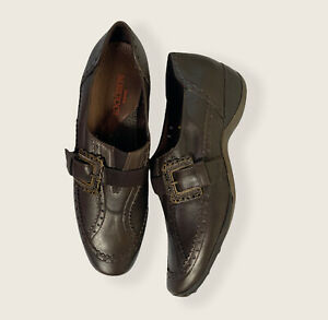 Sesto Meucci Womens 9 N Leather Slip On Shoes Brown Loafers