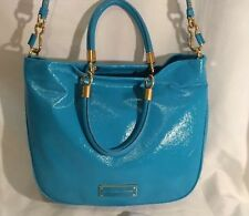 NWT $448 Marc Jacobs Mini Shopper Tote Crossbody Bag Glazed Patent Leather Blue