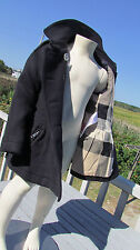 NEW 4Y BURBERRY girls mini Mantlebury $450 coat wool cashmere peplum nova check
