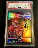 PATRICK MAHOMES 2017 DONRUSS OPTIC ROOKIE GRIDIRON KINGS REFRACTOR RC PSA 10 (A)