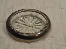 Vintage STERLING Rim Glass F B ROGERS COASTERS Single Replacement
