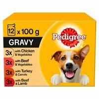 Pedigree Mixed Selection in Gravy Adult Wet Dog Food Pouches - 12 x 100g