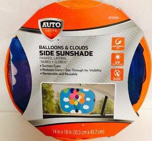 Auto Drive 805684 Balloons & Clouds Kid Child Side Window Sunshade for car van