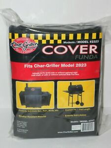 Char-Griller, Wrangler Grill Cover Black Charcoal Grill Smoker Cover 2823 2123