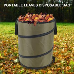 Garden Pop Up Heavy Duty Leaf Waste Bag Reusable Gardening Weeding Bin 37.8L UN