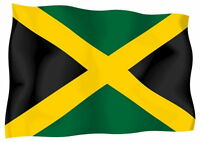 Sticker decal vinyl decals national flag car jamaica jamaican ensign bumper