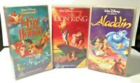 WALT DISNEY CLASSICS VHS VIDEO LOT (Lion King, Aladdin & The Fox and The Hound)