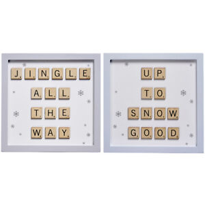 New Christmas Jingle All the Way Up To No Good Scrabble Letter Sign