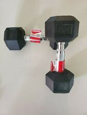 BRAND NEW Weider Rubber Coated Hex 20 Lb Dumbbells (Pair) 40 Lb - FAST SHIPPING