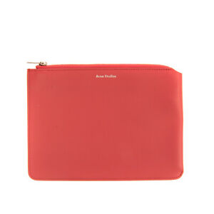 RRP €265 ACNE STUDIOS Leather Clutch Bag Pouch Zip Closure Made in Italy