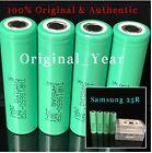 4 SAMSUNG 18650 25R 2500mAh 35A  Rechargeable Battery HIGH DRAIN INR Flat Top
