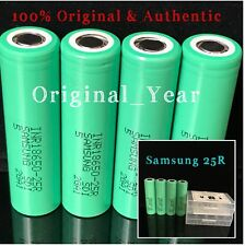 4 18650 SAMSUNG 25R 2500mAh 35A HIGH DRAIN Rechargeable Battery Flat Top