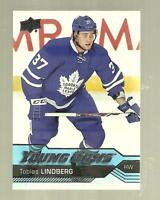 2016-17 Upper Deck NHL-Young Guns-Tobias Lindberg-Maple Leafs-NM