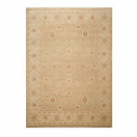 8'9'' x 12'2'' Hand Knotted Wool Agra Traditional Area Rug Gray Beige Muted 9x12