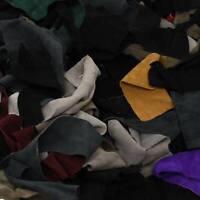 Cow Leather Small Scraps Multi Color Suede 3-4 oz hide pieces 1 pound Remnants