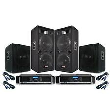 PA System 'summer Nights Ii' 3500w Dual 15 Inch Speakers Bass Bins Amplifiers DJ Disco