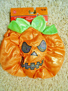 Pumpkin Dog Costume, size XS, brand new with tags, Spooky Village