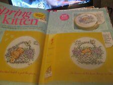"""Spring Chaton"" Makiko roderbourg cross stitch chart (uniquement)"