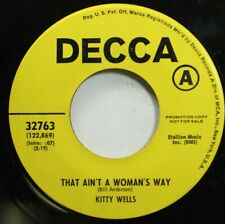 Country Promo 45 Kitty Wells - That Ain'T A Woman'S Way / Don'T Forget To Say I