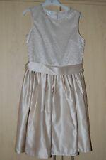 Rjr.John Rocha Kids Girls' Taupe/Gold Satin Sequined bodice Dress From Debenhams