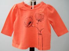 New Baby Gap Size 0-3 Months Orange  Long Sleeve Tops ~ Shirt