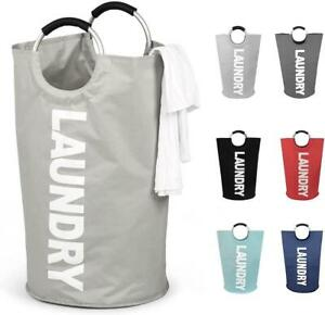 Collapsible Fabric Laundry Hamper, Foldable Clothes Bag, Washing Bin Basket