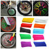 EG_ 36Pcs Motorcycle Bike Wheel Spoke Wraps Rims Skin Cover Decor Grac