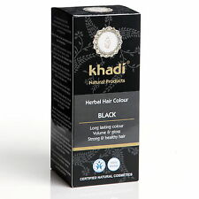 KHADI HERBAL HAIR COLOUR BLACK LONG LASTING COLOUR CERTIFIED NATURAL PRODUCT