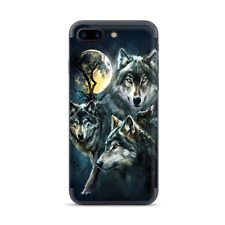 Apple iPhone 7 / 8 Plus Skins Decal Wrap 3 Wolves Moonlight
