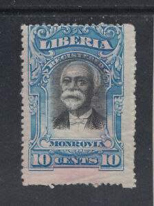 Liberia # F13 Color Proof On Paper in Blue (Scarce Full Gum)