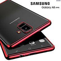 Coque pour Samsung Galaxy A8 2018 Étui TPU Original Galvanoplastie Slim