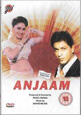 ANJAM - SHAHRUKH KHAN - MADHURI DIXIT - NEW BOLLYWOOD DVD - FREE UK POST