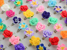 30pcs Wholesale New Jewelry Lots Mixed Adjustable Band Crystal Children Rings