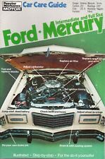 Ford Cougar Galaxie Marquis X-R7 T-Bird Tune-Up & Service Guide Manual American