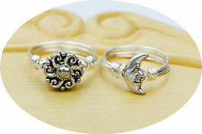 Sun OR Moon Ring- Pewter and Sterling Silver Filled Ring--Any Size 4-14