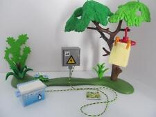 Playmobil camping/dollhouse/adventure scenery, electric point & washing line NEW