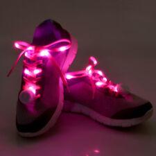 LED Light Shoelaces Luminous Flash Shoe Laces Disco Light Up Glow Nylon Strap