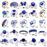 Women Men Fashion Blue Sapphire & Tanzanite & White Topaz 925 Silver Ring Gifts