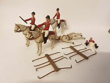 4 Carriage Horses and Riders Vintage Lead / Metal Toy Soldiers